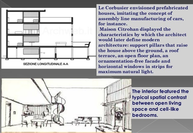 Citrohan house plans - House interior