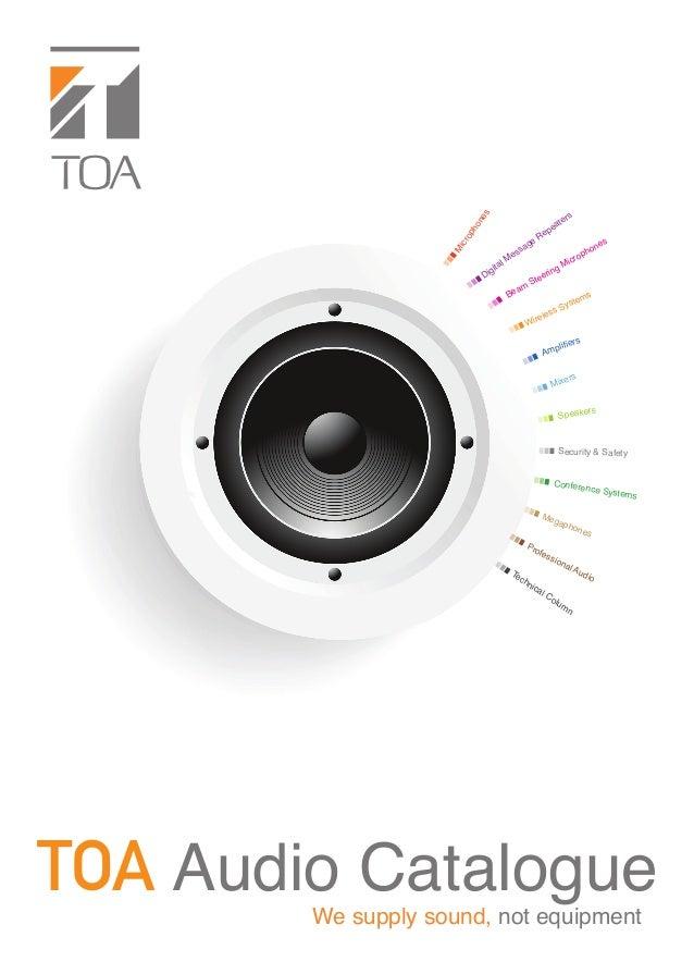 Toa Audio Catalog 2019