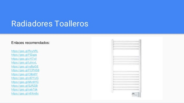 Toallero electrico for Radiadores toalleros electricos precios
