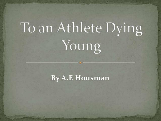 By A.E Housman