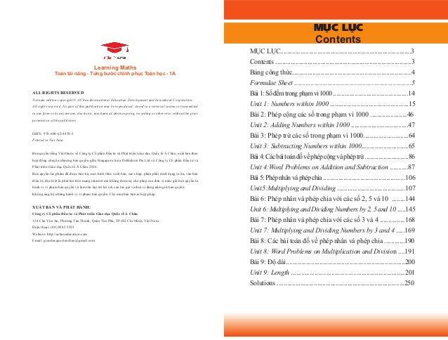 Toán Tài Năng, Từng Bước Chinh Phục Toán Học - 1A Sách Toán Song Ngữ Singapore Slide 2