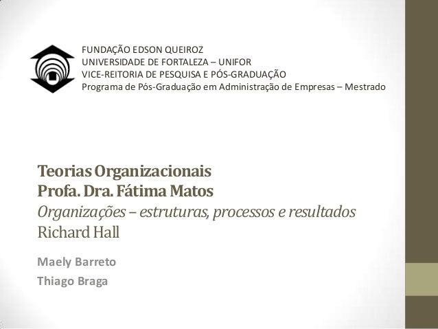 FUNDAÇÃO EDSON QUEIROZ       UNIVERSIDADE DE FORTALEZA – UNIFOR       VICE-REITORIA DE PESQUISA E PÓS-GRADUAÇÃO       Prog...