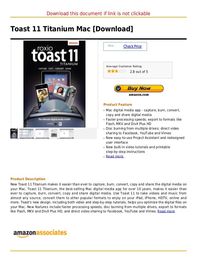 Download this document if link is not clickableToast 11 Titanium Mac [Download]                                           ...