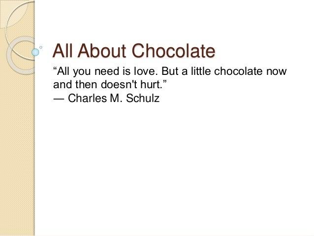 chocolate descriptive paragraph