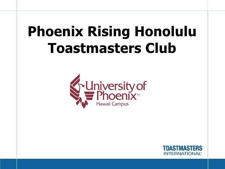 Toastmasters Youth Leadership Farrington High School -  Session One Slide 2