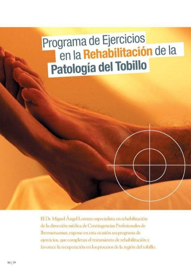 Programa de Ejercicios en la Rehabilitación de la Patología del Tobillo