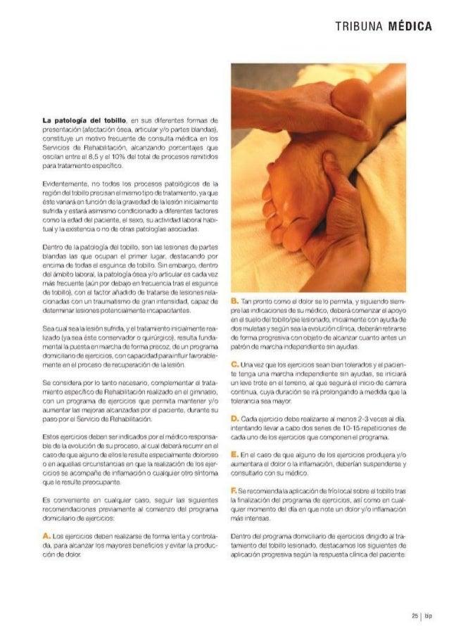 Programa de Ejercicios en la Rehabilitación de la Patología del Tobillo Slide 2