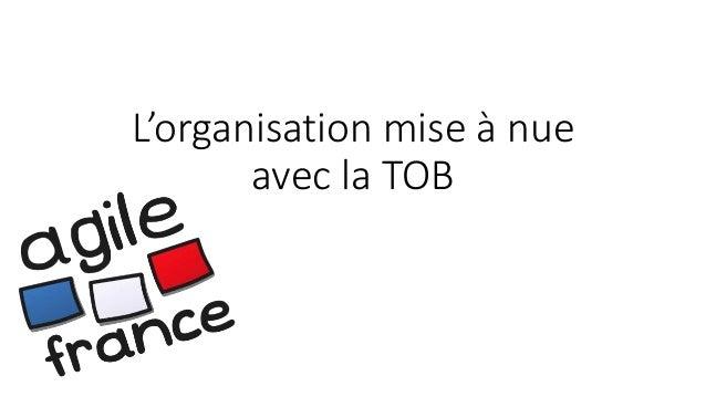 L'organisation mise à nue avec la TOB