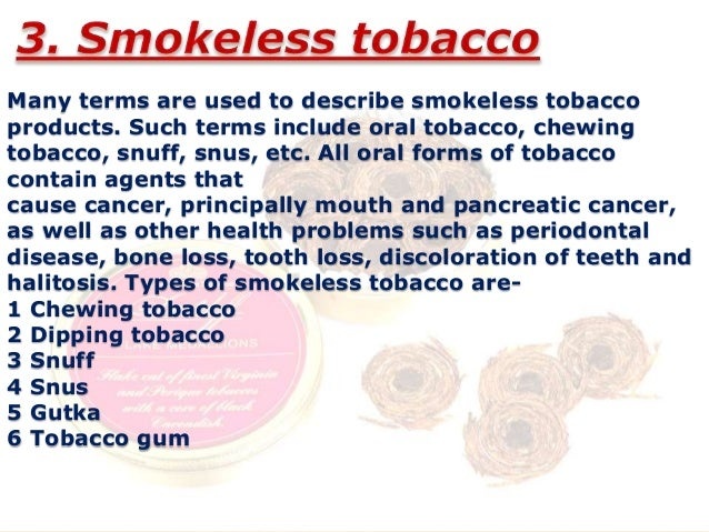 Tobacco a leading risk factor