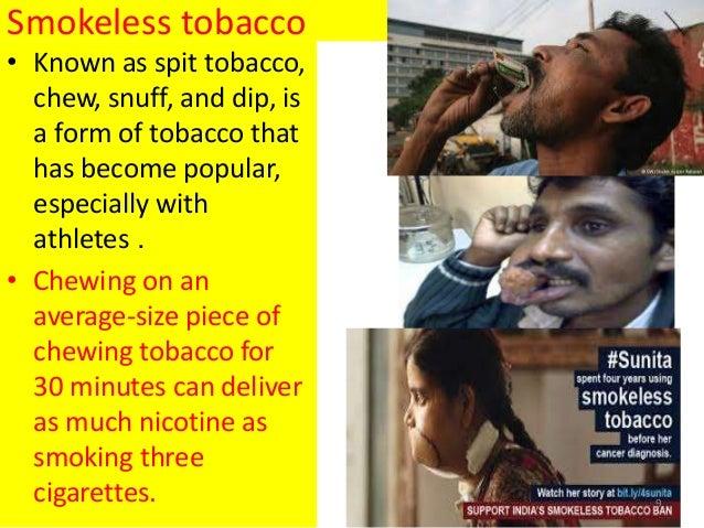 Smokeless tobacco effects on sperm