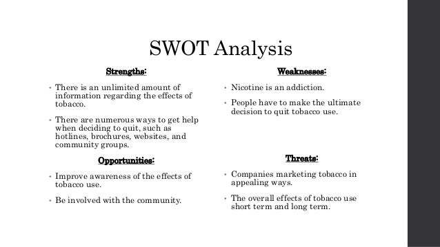 Tobacco the swot analysis