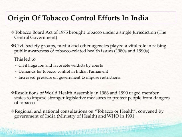 tobacco control act The family smoking prevention and tobacco control act, (publ 111–31, hr 1256) is a federal statute in the united states that was signed into law by president.