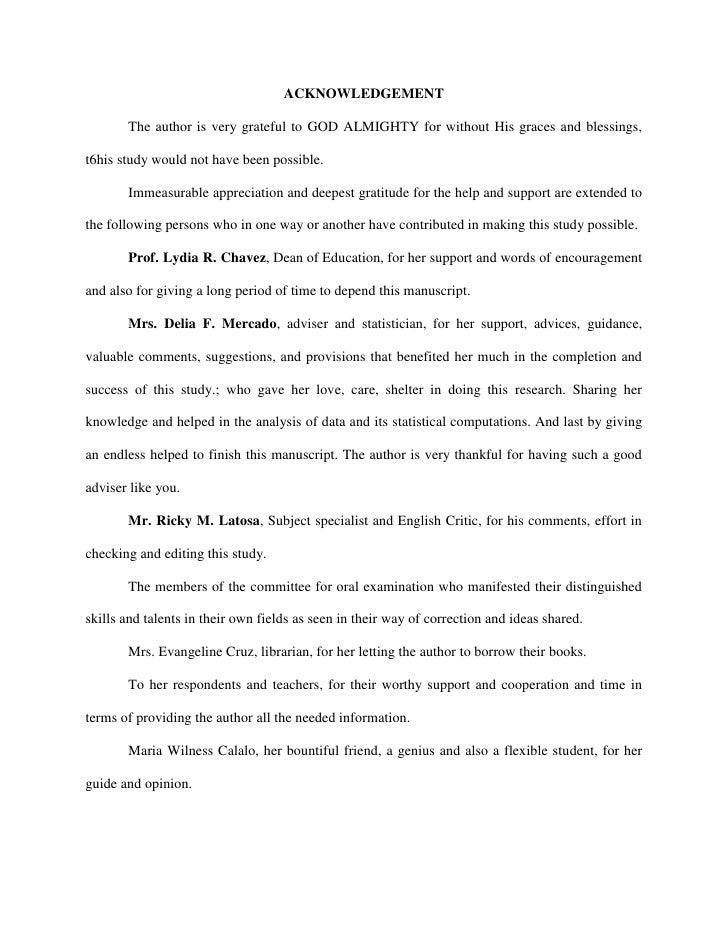 acknowledgement thesis thanking god Thesis acknowledgements in thesis acknowledgement, you thank all the people who provided their assistance to you in form of advice, suggestions.