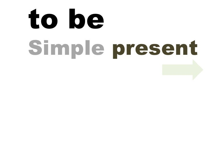 to be Simple  present