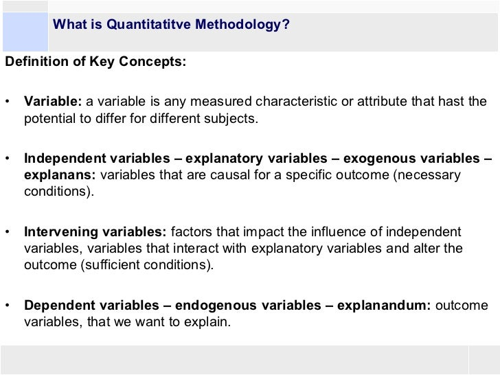 Overview Of The Possibilities Of Quantitative Methods In
