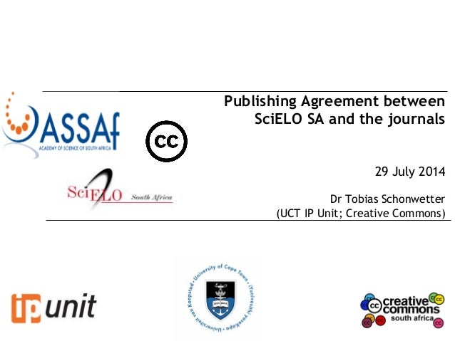 Publishing Agreement Between Scielo Sa And The Journals Tobias Scho