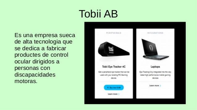 Tobii 4c y la barra de herramientas w10 Slide 2