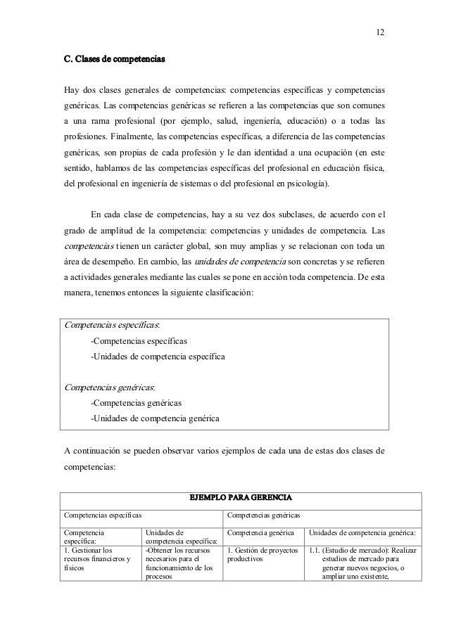 12 C.Clasesdecompetencias Hay dos clases generales de competencias: competencias específicas y competencias...