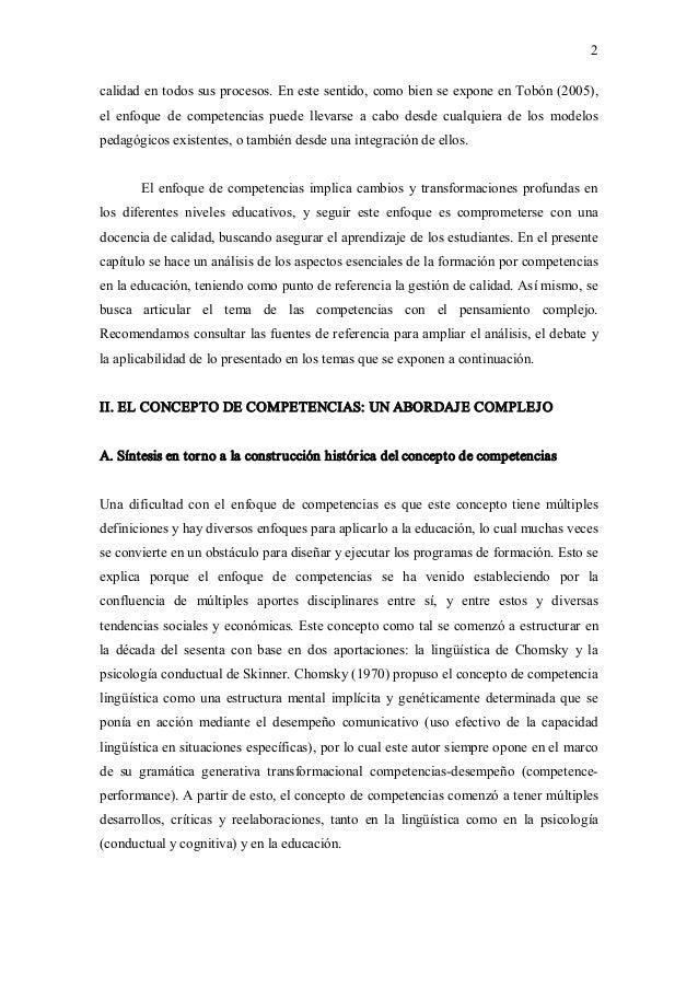 2 calidadentodossusprocesos.Enestesentido,comobienseexponeenTobón(2005), el enfoque de competencias pu...