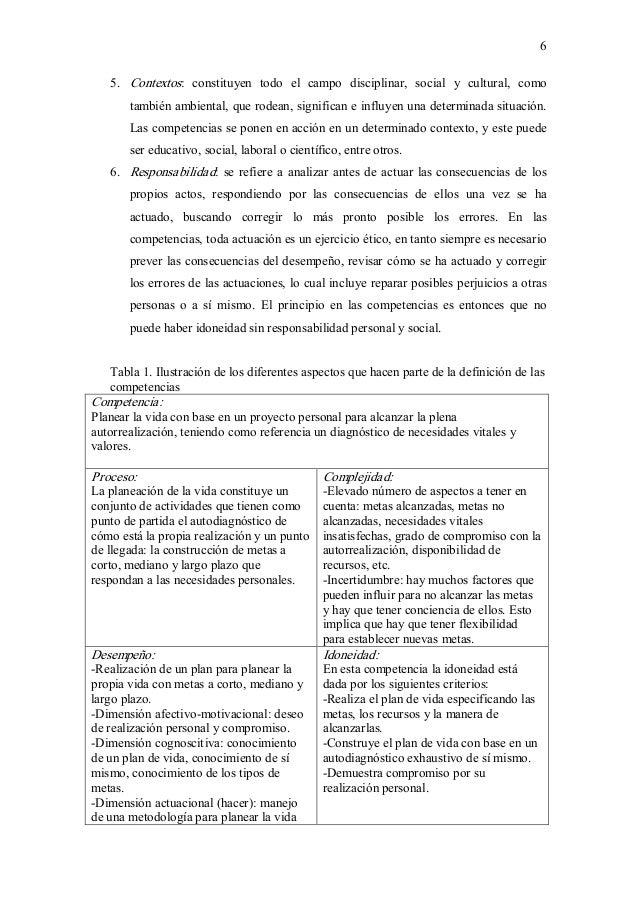 6 5. Contextos: constituyen todo el campo disciplinar, social y cultural, como tambiénambiental,querodean,...