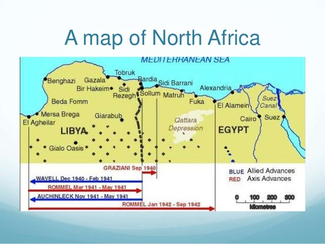 A map of North Africa