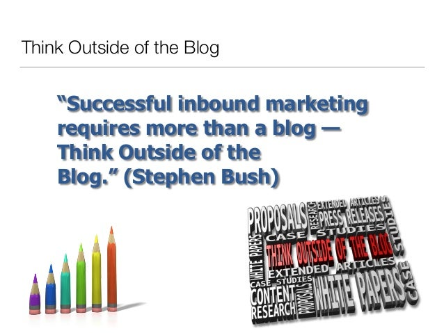 Thinking Outside of the Blog Slide 3