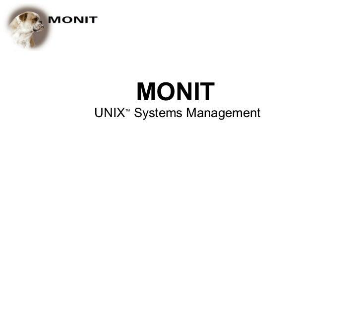 MONITUNIX™ Systems Management