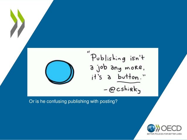 Or is he confusing publishing with posting?