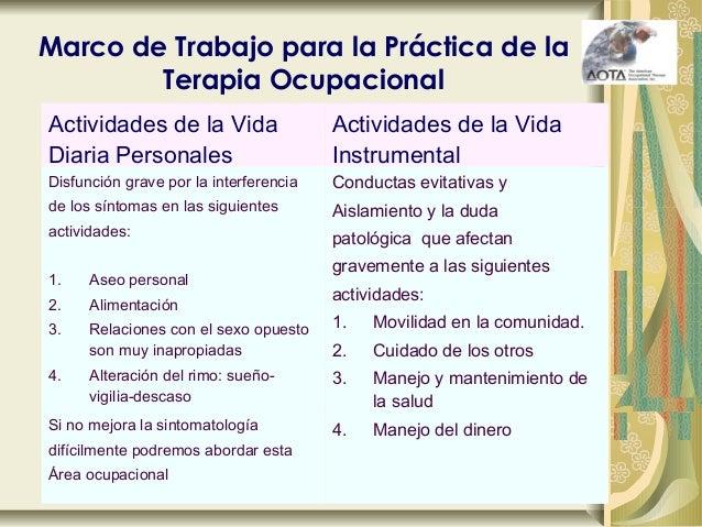 Terapia Ocupacional y TOC
