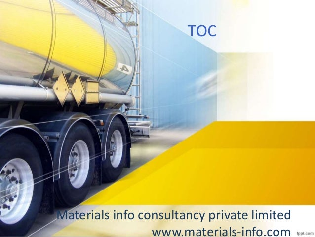 Materials info consultancy private limited www.materials-info.com TOC