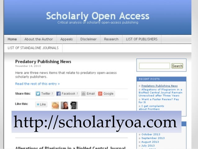 To Catch a Predator: How to Recognize Predatory Journals and Conferen…