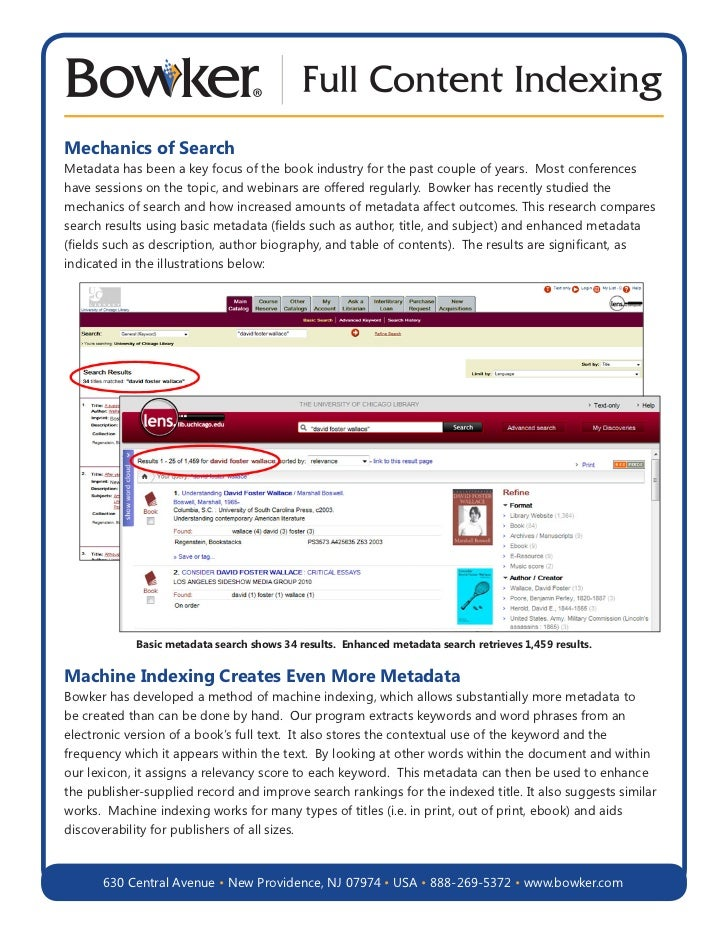 Mechanics of SearchMetadata has been a key focus of the book industry for the past couple of years. Most conferenceshave s...