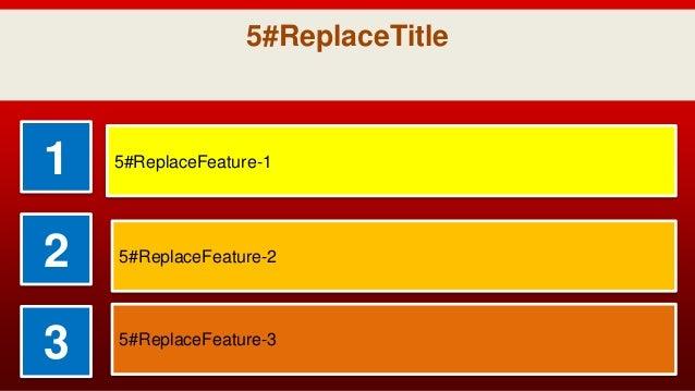 5 ReplaceTitle 1 5 ReplaceFeature-1 2 5 ReplaceFeature-2 3  5 ReplaceFeature-3 ... 0c06435e3056