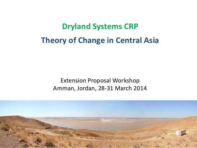 Dryland Systems CRP Theory of Change in Central Asia Extension Proposal Workshop Amman, Jordan, 28-31 March 2014