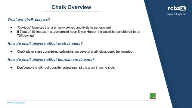 MLB: To Chalk or Not to Chalk Slide 3