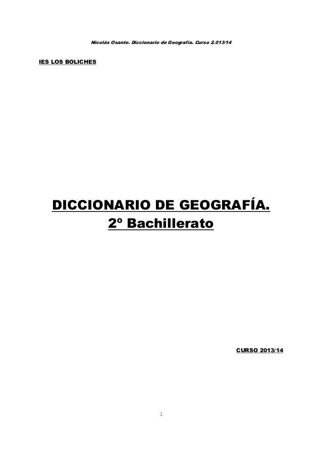 Todas Las Definiciones De Geografia