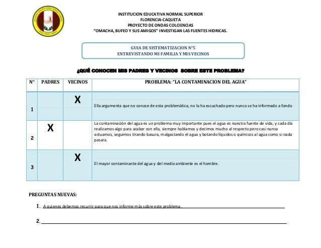"""INSTITUCION EDUCATIVA NORMAL SUPERIOR FLORENCIA-CAQUETA PROYECTO DE ONDAS COLCIENCIAS """"OMACHA, BUFEO Y SUS AMIGOS"""" INVESTI..."""