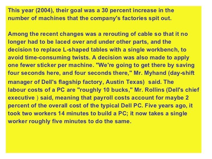 <ul><li>This year (2004), their goal was a 30 percent increase in the  </li></ul><ul><li>number of machines that the compa...