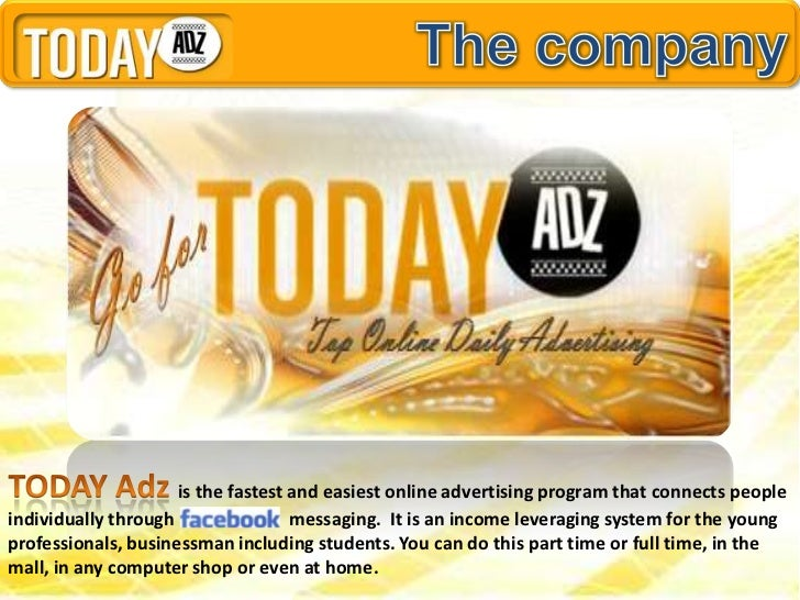 is the fastest and easiest online advertising program that connects peopleindividually through                messaging. I...