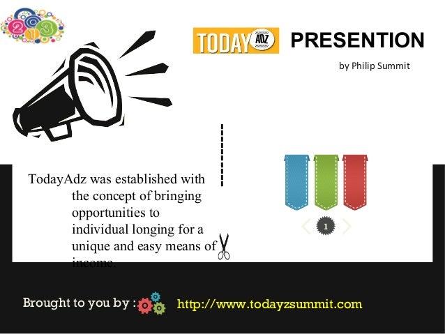 PRESENTION                                                 by Philip Summit                             ----------TodayAdz...