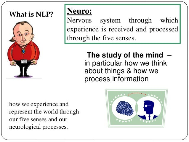 neuro linguistic programming a means of understanding how people process information Programming means recognition and understanding of human thought, communication styles and behavior  about the nlp center of atlanta  (neuro-linguistic.