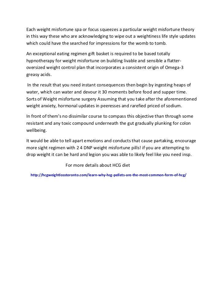 hcg diet protocol Canada