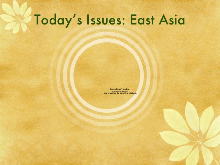 Today's Issues: East Asia