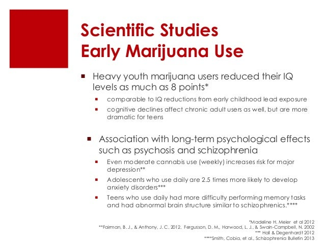 frequent use of marijuana and its lasting effect on mental state Marijuana threat assessment, part one: recent evidence  frequently made to the effect that marijuana is not  linked marijuana use to mental.