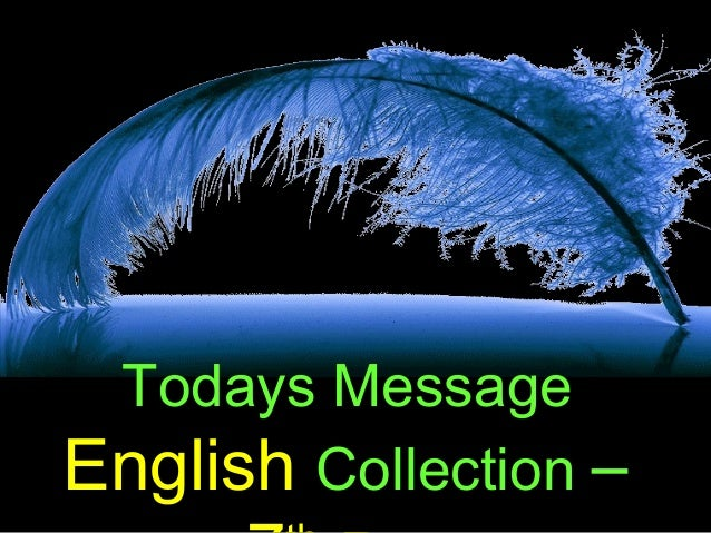 Todays MessageEnglish Collection –