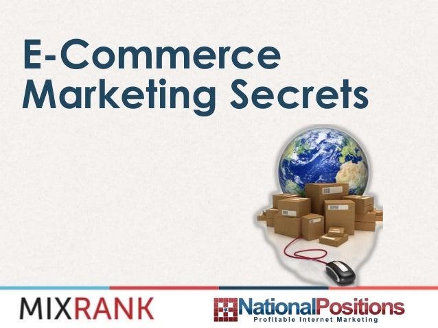 E-CommerceMarketing Secrets