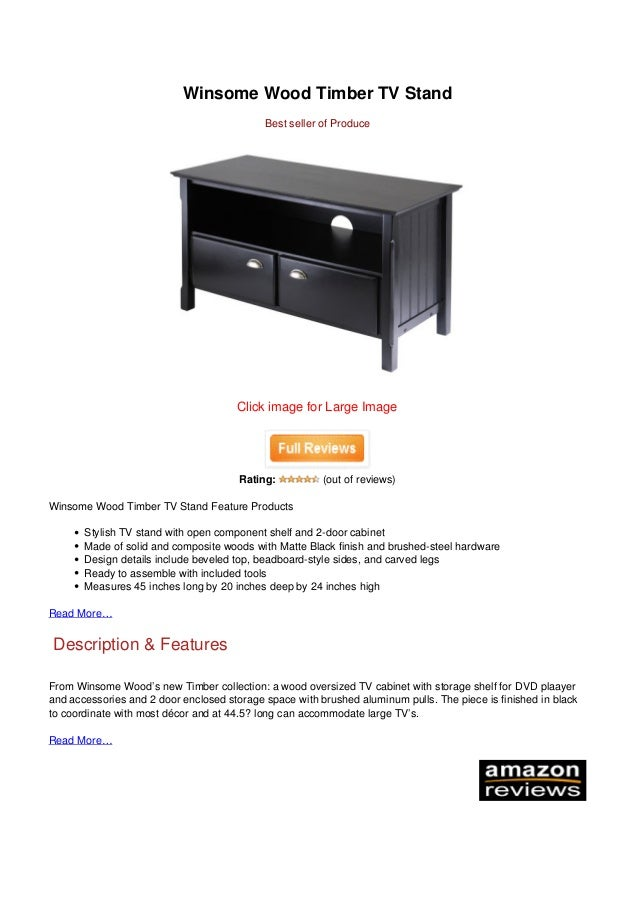 Awesome Today Winsome Wood Timber Tv Stand Caraccident5 Cool Chair Designs And Ideas Caraccident5Info