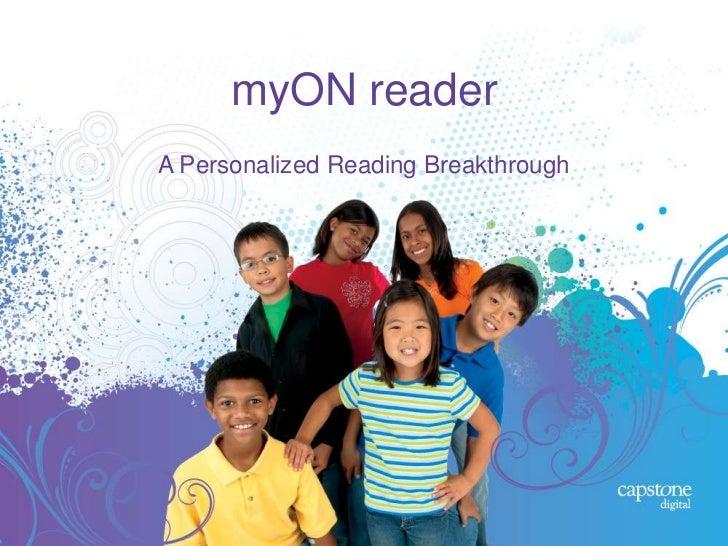 myON readerA Personalized Reading Breakthrough