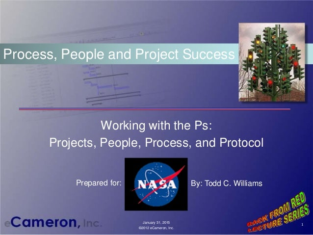 Working with the Ps: Projects, People, Process, and Protocol Process, People and Project Success 1 January 31, 2015 ©2012 ...