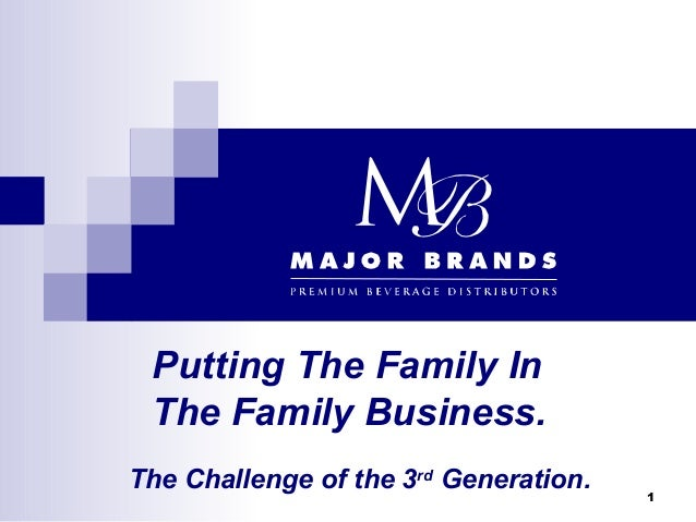 Putting The Family In The Family Business.The Challenge of the 3rd Generation.   1